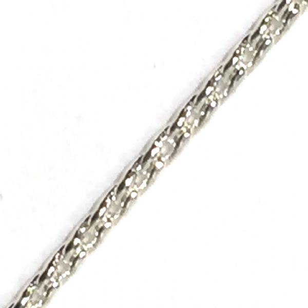 1meter x Fine 1mm silver plated box chain